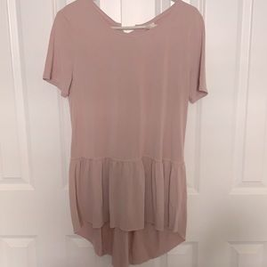 {Mote} dusty rose high low blouse L